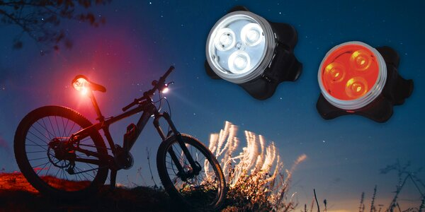 LED svítilny na kolo s USB nabíjením