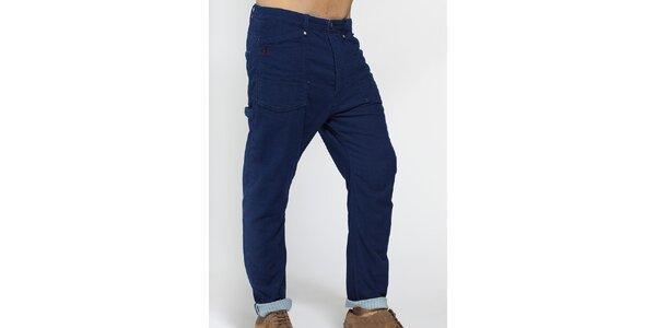 Pánské tmavě modré bavlněné kalhoty Diesel