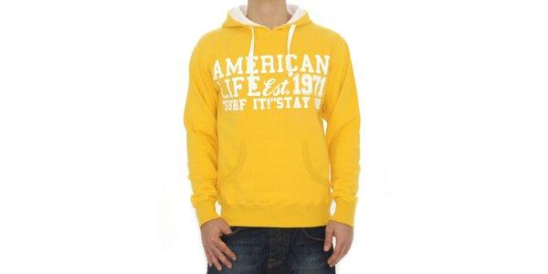 Pánská žlutá mikina American Life