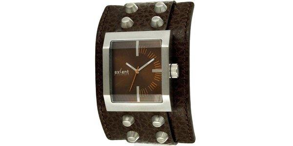 Hranaté náramkové hodinky Axcent s širokým řemínkem