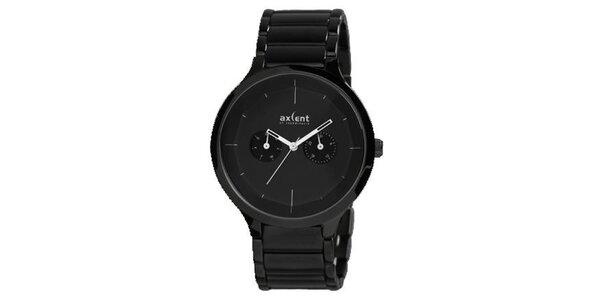 Pánské černé hodinky Axcent
