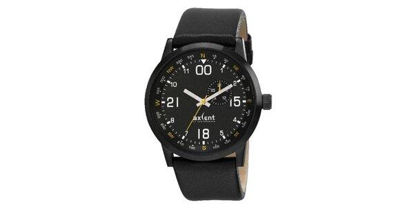 Pánské černé analogové hodinky Axcen