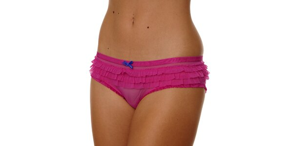 Dámské růžové kalhotky Calvin Klein s kanýrky