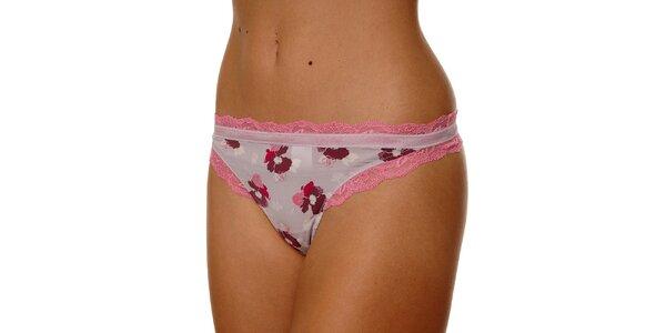 Dámská růžová tanga Calvin Klein s potiskem
