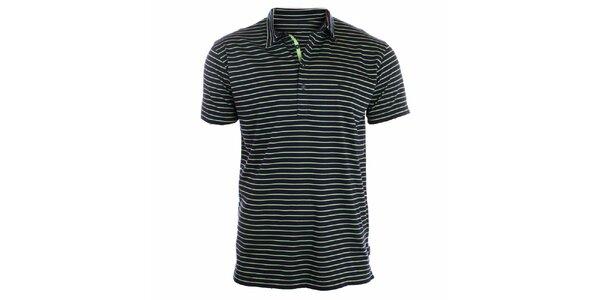 Pánské zeleně pruhované polo tričko Pietro Filipi