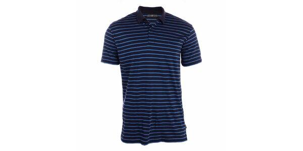 Pánské indigově modré polo tričko s pruhy Pietro Filipi