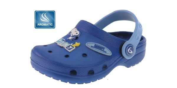 Dětské modré gumové dřeváky Beppi s vůní