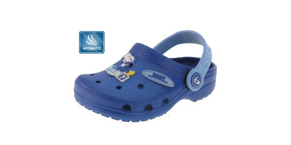 Dětské modré gumové pantofle Beppi s vůní