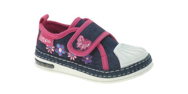 Dětské modro-růžové tenisky Beppi