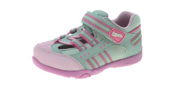 Dětské šedo-růžové tenisky Beppi