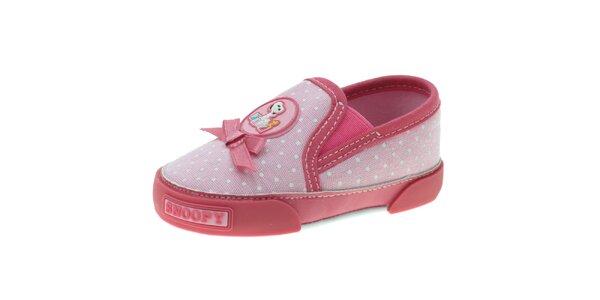 Dětské růžové puntíkované botičky Beppi ca77ee68f4