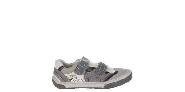 Dětské tmavě šedé kožené botičky Billowy