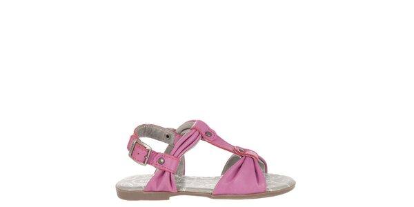 Dětské růžové kožené sandálky Billowy