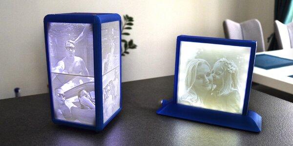 Originální svítící lampa z vlastních fotografií