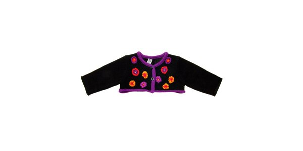 Dětské černé bolerko Tuc Tuc s kytičkami