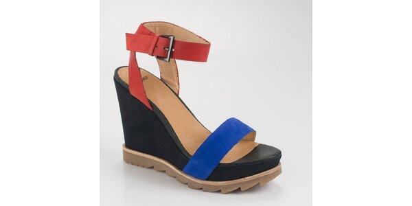 Dámské barevné sandály Bronx na vysokém klínku