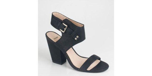 Dámské černé semišové sandály Bronx