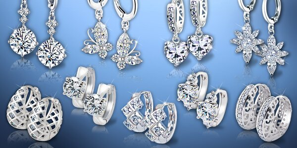 Náušnice La Diamantina s úchvatným třpytem