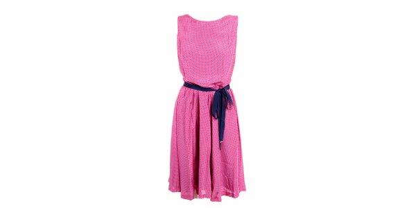 Dámské růžové šaty s puntíky Pietro Filipi