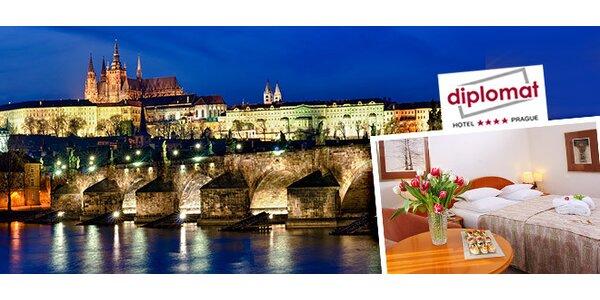 Ubytování v luxusním pražském hotelu Diplomat**** pro dva