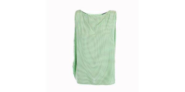 Dámský volný zelený puntíkatý top Pietro Filipi