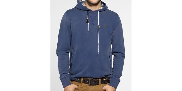 Pánská tmavě modrá mikina Ben Sherman s kapucí