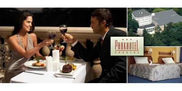 2970 Kč za třídenní romantický pobyt s polopenzí pro DVA v Sokolově!
