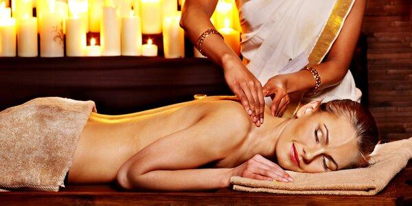 Luxusní masáž arganovým olejem a lávovými kameny