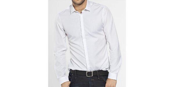 Pánská bílá košile Ben Sherman s krytou légou