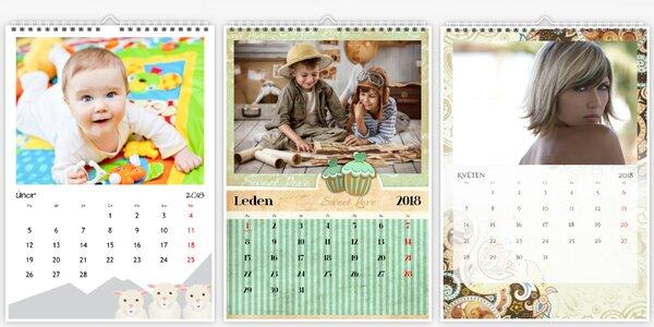 Nástěnný fotokalendář A4 nebo A3