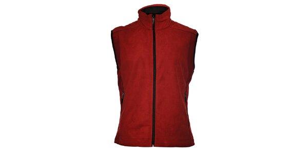 Pánská vínově červená softshellová vesta Trimm Drill