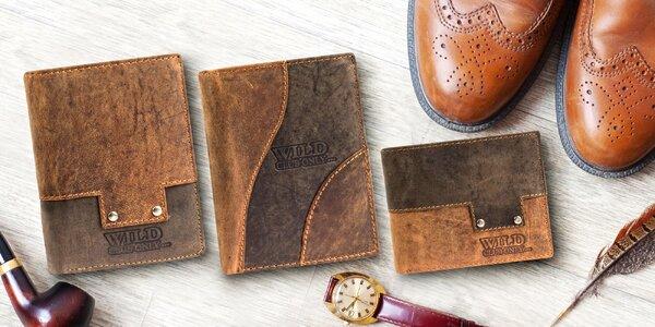 Pánské peněženky z broušené kůže: 8 modelů