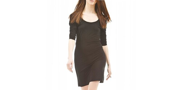 Dámské černé šaty s 3/4 rukávem Yuliya Babich