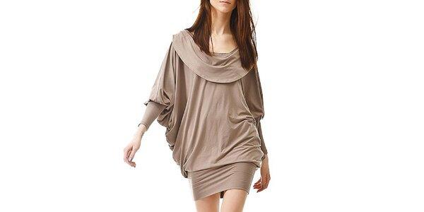 Dámské hnědo-béžové šaty s odhalenými zády Yuliya Babich