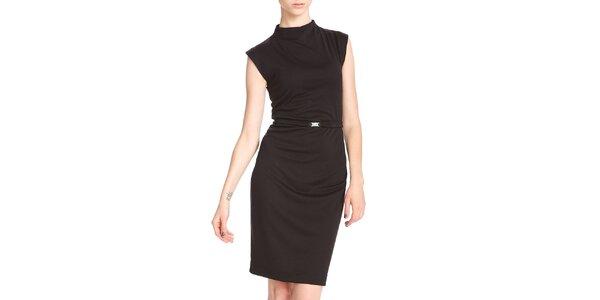 Dámské černé pouzdrové šaty se stojáčkem Yuliya Babich