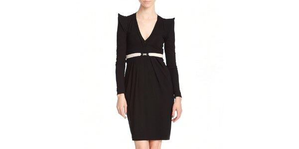 Dámské černé šaty s výraznými rameny Yuliya Babich