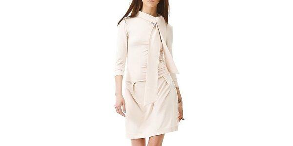 Dámské krémově bílé šaty s šálkou Yuliya Babich