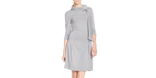 Dámské šedé šaty s šálkou Yuliya Babich