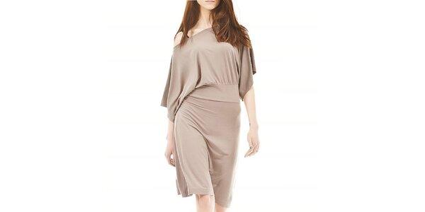 Dámské volné béžové šaty Yuliya Babich