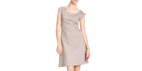 Dámské krátké béžové šaty Yuliya Babich