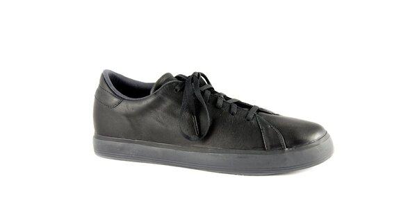 Pánské černé kožené tenisky Adidas