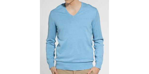 Pánský světle modrý melírovaný svetr Ben Sherman