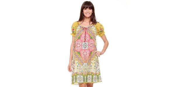 Dámské světlé orientální šaty Peace&Love