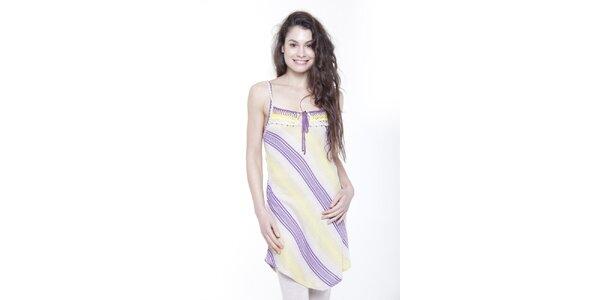 Dámské proužkované šaty na ramínka Peace&Love
