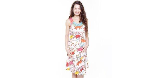 Dámské bílé šaty se vzorkem Peace&Love