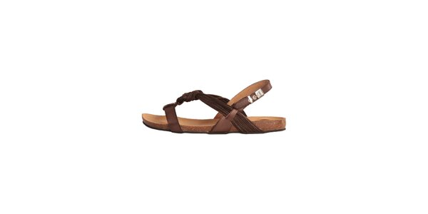 5a960013bba9e Dámské hnědé kožené sandálky Dr. Scholl