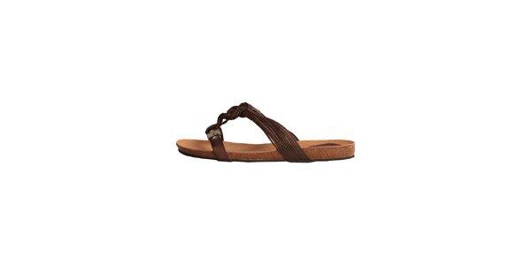 Dámské hnědé sandálky s copánky Dr. Scholl