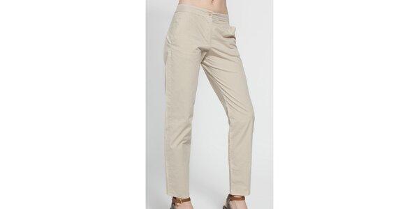 Dámské světle béžové kalhoty French Connection