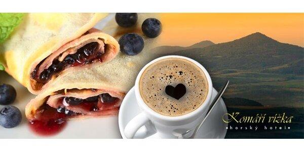 75 Kč za DVĚ sladké palačinky a DVĚ lahodné kávy na Komáří vížce