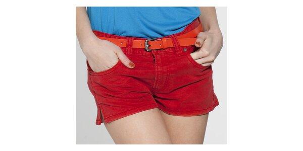Dámské červené mini šortky French Connection
